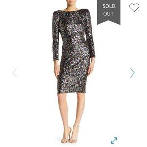 Dress the Population Confetti Emery Sequin Dress
